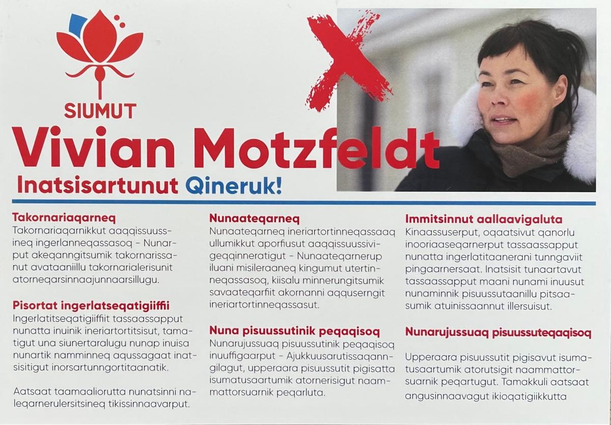 Uanga Vivian Motzfeldt piukkunnerpaavara.